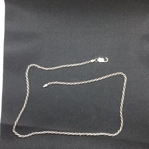 Sterling silver diamond cut 20 inch rope chain